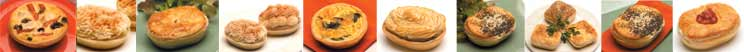 a delicious range of pies baked in Mackies pie trays